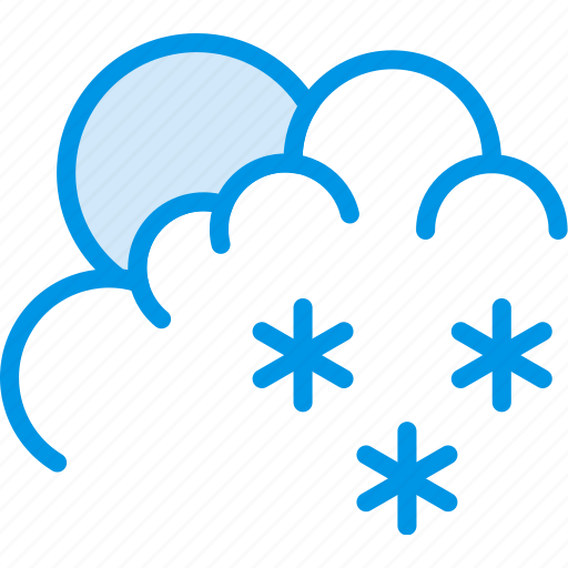clouds, forecast, morning, snow, weather, webby icon