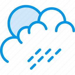 cloud, forecast, morning, rain, sun, weather, webby icon