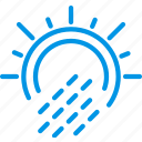 forecast, precipitations, rain, sun, weather, webby, with icon