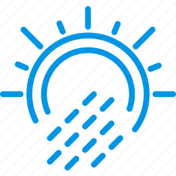 forecast, precipitations, rain, sun, weather, webby, with icon