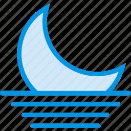 forecast, moon, night, sky, weather, webby icon