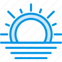 forecast, sea, sun, sunset, weather, webby, wind icon