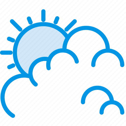 clouds, cloudy, day, forecast, sun, weather, webby icon