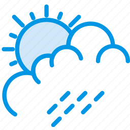 clouds, forecast, rain, summer, sun, weather, webby icon