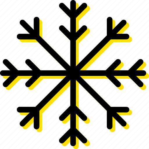 forecast, snowflake, weather, yellow icon