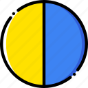 forecast, last, moon, quarter, weather, yellow icon