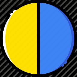 forecast, last, moon, quarter, weather, yellow icon
