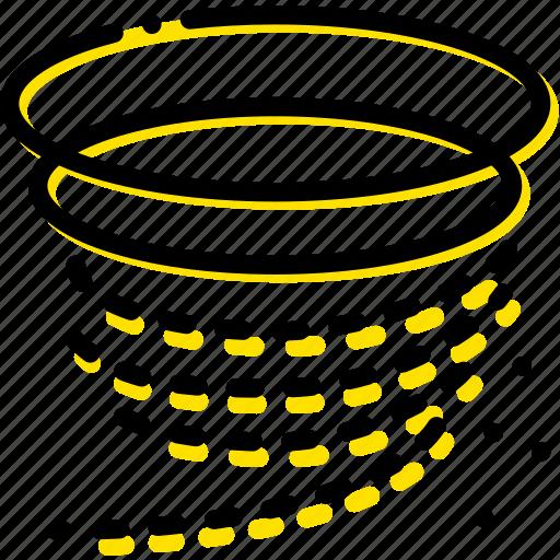 forecast, tornado, weather, yellow icon