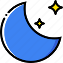 forecast, moon, new, weather, yellow icon