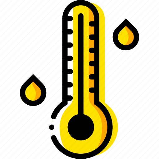 forecast, high, temperature, weather, yellow icon