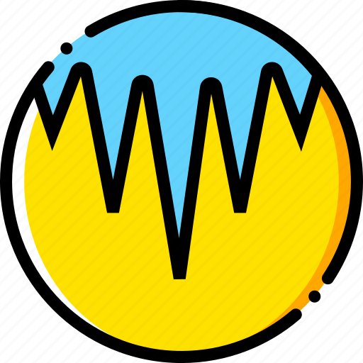 forecast, icicles, weather, yellow icon