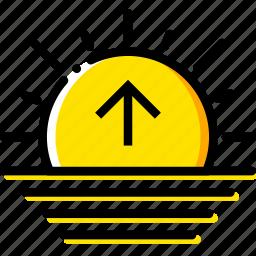 forecast, sunrise, weather, yellow icon
