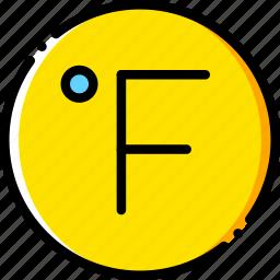 fahrenheit, forecast, weather, yellow icon