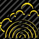 forecast, fresh, rainbow, weather, yellow icon