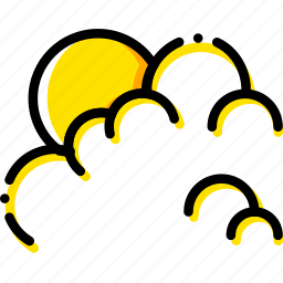 cloudy, forecast, snow, weather, yellow icon