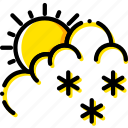 drizzle, forecast, weather, yellow icon