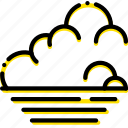 forecast, low, tide, weather, yellow icon
