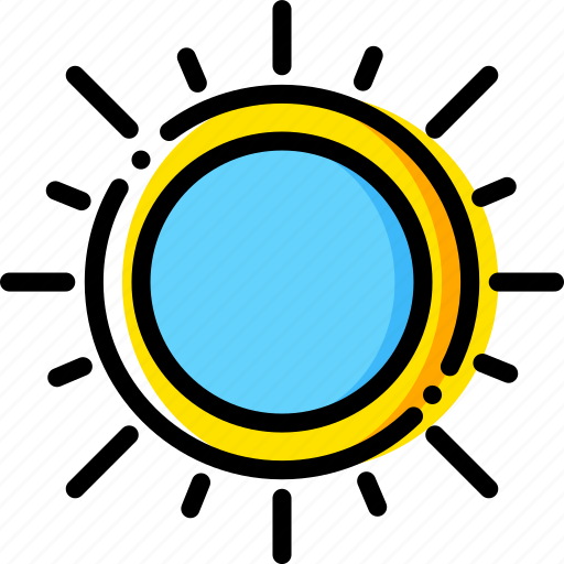 forecast, sunny, weather, yellow icon