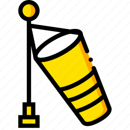 forecast, no, weather, wind, yellow icon