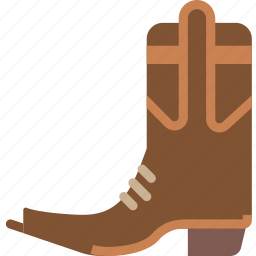 boots, cowboy, rider, riding icon