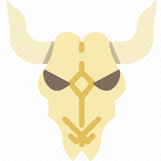 cattle, cow, cowboy, skull, west, wild icon