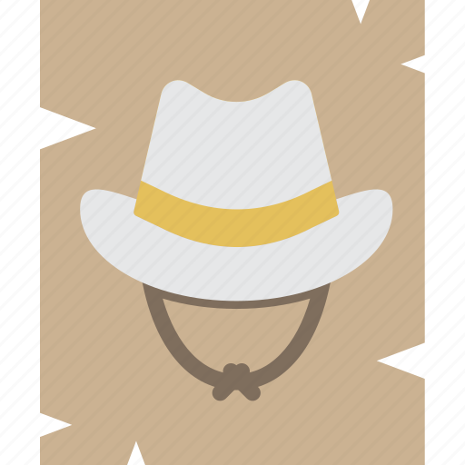 burglar, cowboy, heist, poster, thief, wanted, west icon