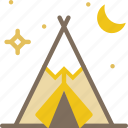 american, cowboy, indian, native, tent, tupe icon