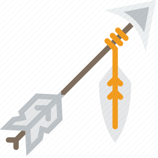 american, arrow, bow, cowboy, indian, native, weapon icon