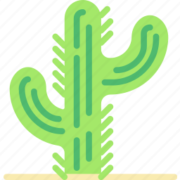cactus, cowboy, desert, green, west, wild icon
