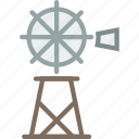 cowboy, desert, grinder, mill, water, west, wild icon