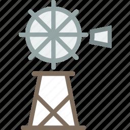 cowboy, desert, grinder, mill, water, west, wild icon