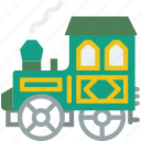cowboy, heist, thief, track, train, west, wild icon