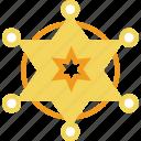 badge, cowboy, insignia, order, police, sheriffs icon