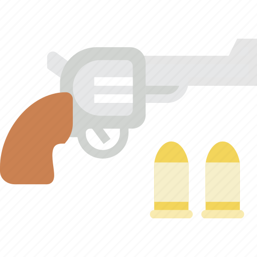 bullet, colt, cowboy, duel, gun, revolver, weapon icon