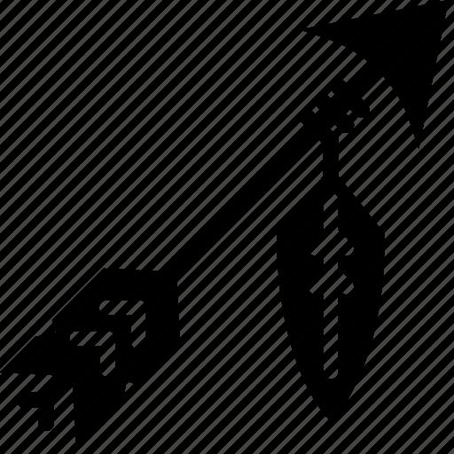 arrow, bow, cowboy, head, solid, tip icon