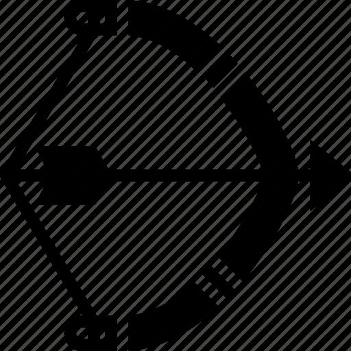 american, arrows, bow, head, native, solid, tip icon