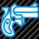 bullet, cowboy, dillinger, gun, pistol, webby, west icon