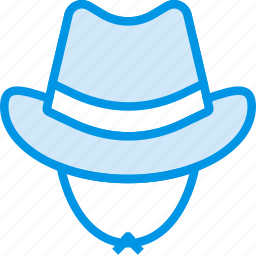 clothing, cowboy, hat, webby, west, wild icon
