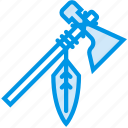 axe, cowboy, hatchet, indian, native, tomahawk, webby icon