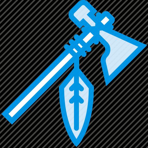 axe, cowboy, hatchet, indian, native, tomahawk, webby icon