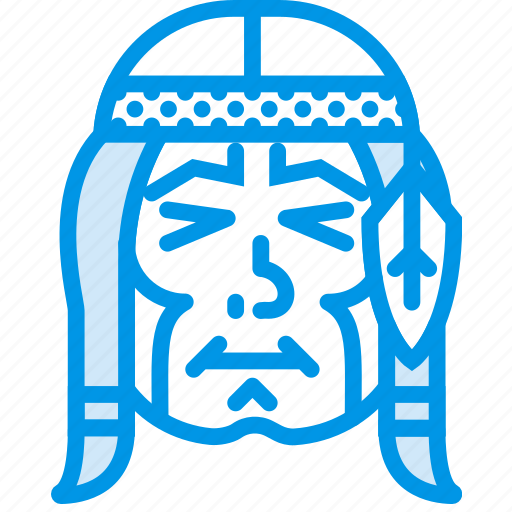 american, chief, feather, headband, indian, native, webby icon