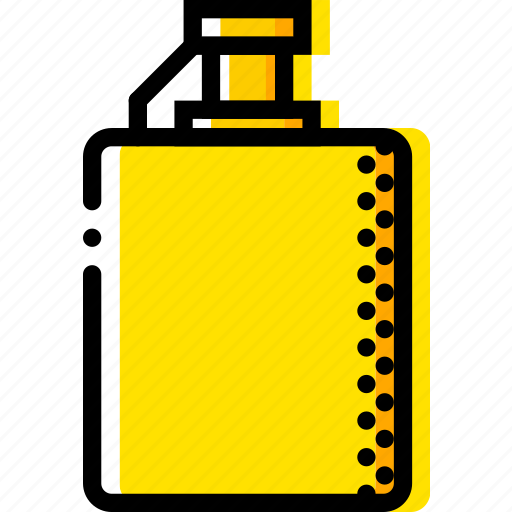 flask, retro, west, wild, yellow icon