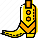 army, boots, retro, union, west, wild, yellow icon