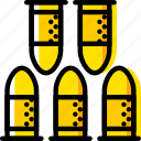 bullets, retro, west, wild, yellow icon