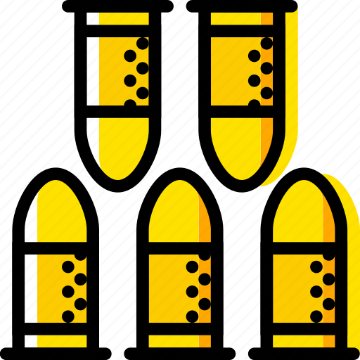 bullets, retro, west, wild, yellow icon