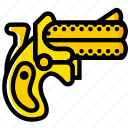 dillinger, retro, west, wild, yellow icon
