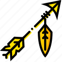 arrow, retro, west, wild, yellow icon