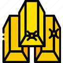 gold, ingots, retro, west, wild, yellow icon