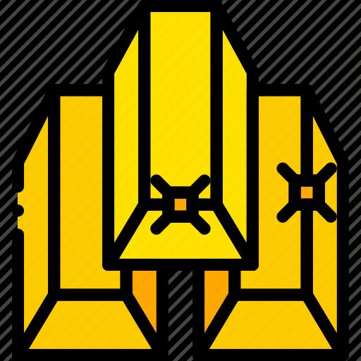 gold, ingots, retro, west, wild, yellow icon