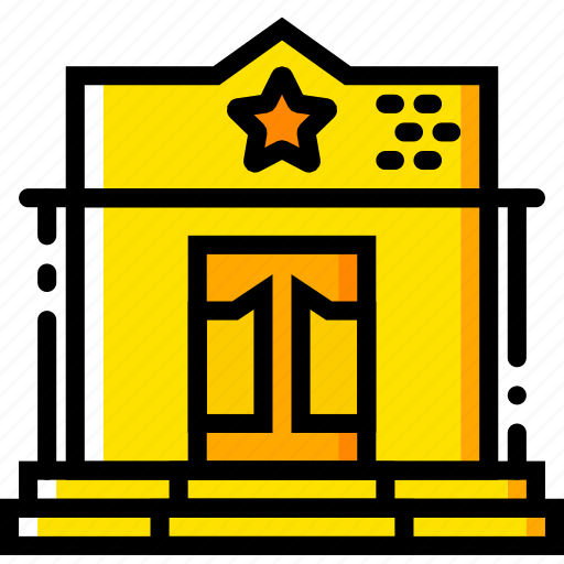 building, retro, sheriff, west, wild, yellow icon